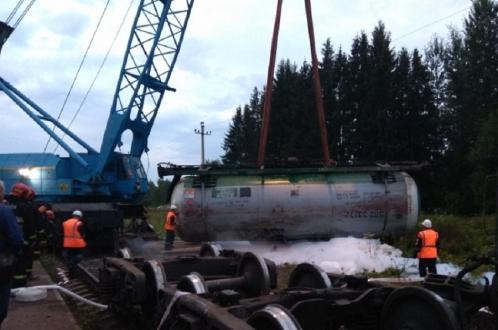 Цистерны с газом сошли с рельсов в Белоруссии