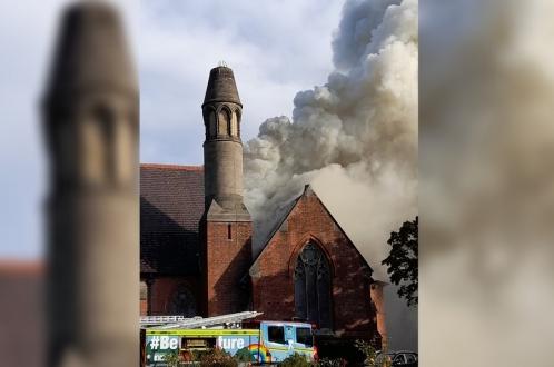 Пожар в крематории