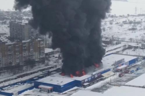 Покупатель–поджигатель устроил грандиозный пожар