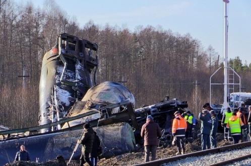 Крушение «мазутного» поезда под Владимиром