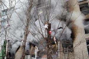 Саратов: Обгоревший отец вынес сына из эпицентра взрыва