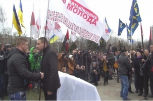 В Одессе подрались политические активисты