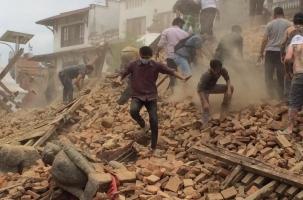 В Непале мощное землетрясение