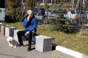 Рокера Леонидова задержали с собакой