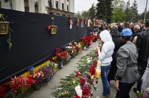 В Одессе почтили память погибших в Доме профсоюзов