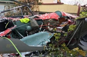 Вертолет с туристами разбился во дворе дома в Сочи. Детали