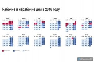 Правительство России утвердило список выходных дней на 2016 год