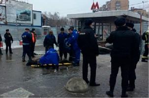 В переходе московского метро пострадали шесть человек. Видео