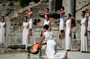 В Греции зажгли огонь XXII зимних Олимпийских игр в Сочи