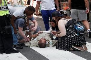 Более 20 человек оказались на пути лихача в Нью-Йорке