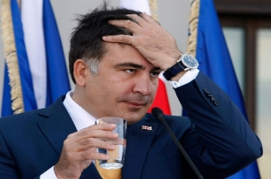 Саакашвили в Одессе встретили галстуками