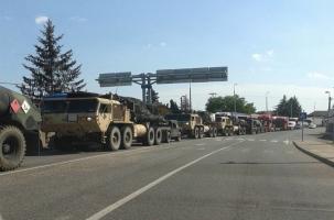 Иностранный военный конвой вошел на Украину
