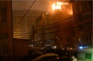 Масштабный пожар в Музыкальном районе