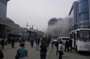 В пожаре на Киевском вокзале Москвы сгорели люди
